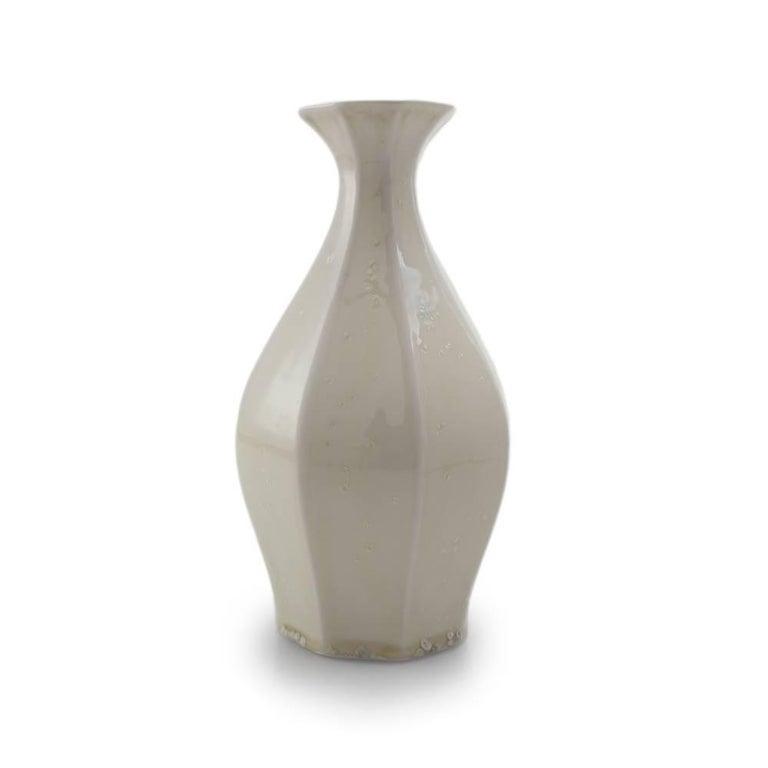 Table Vase Ink Black Flower Vase Modern Contemporary Glazed Porcelain For Sale 8