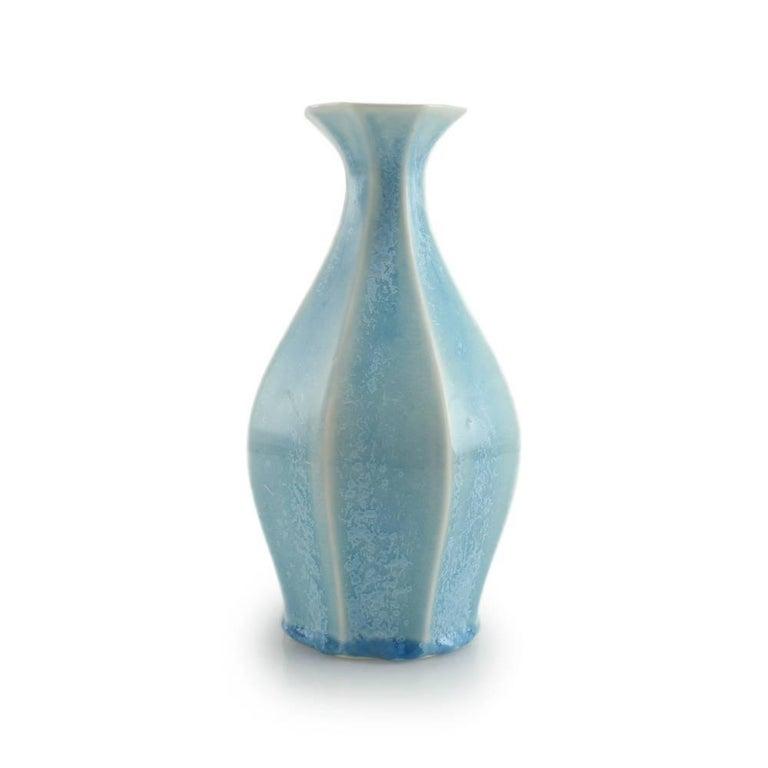 Table Vase Ink Black Flower Vase Modern Contemporary Glazed Porcelain For Sale 10