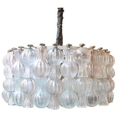 Aussetzung Kronleuchter Seguso Murano Glas aus den 1950er Jahren