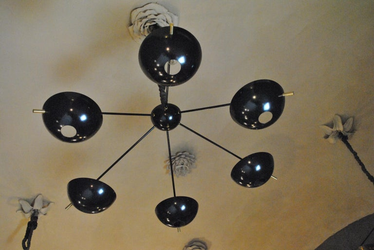 Modern Suspension Chandelier with Brass Rods by Cellule Creative Studio for Misia Arte For Sale