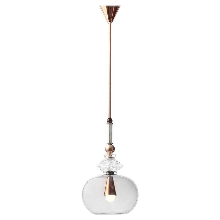 Murano glass suspension light, new, offered by Galerie Glustin