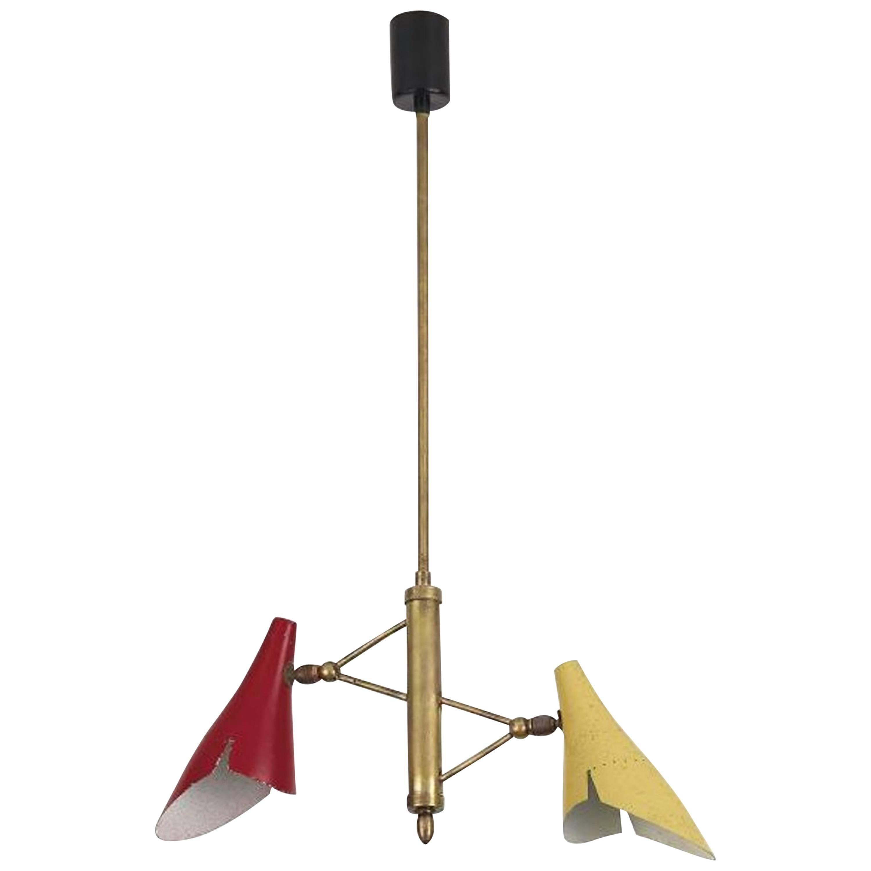 Suspension Lamp by Oscar Torlasco for Lumen, Milano