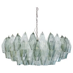 "Suspension Lamp Model ""Poliedri"" Designed by Carlo Scarpa and Edited by Venini"