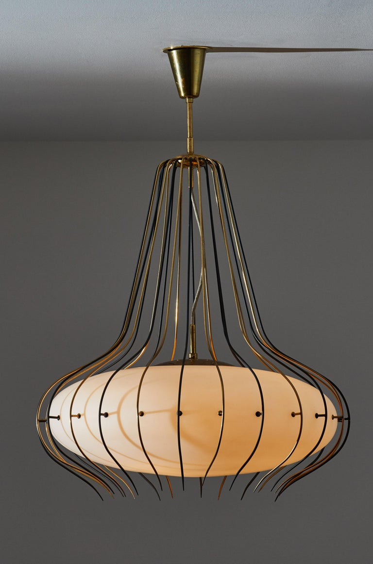Mid-Century Modern Suspension Light by Angelo Lelli for Arredoluce