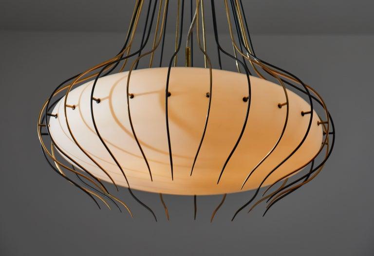 Italian Suspension Light by Angelo Lelli for Arredoluce