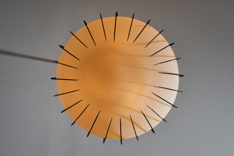 Suspension Light by Angelo Lelli for Arredoluce In Good Condition In Los Angeles, CA