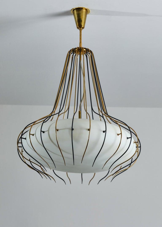 1950s Suspension Light by Angelo Lelli for Arredoluce