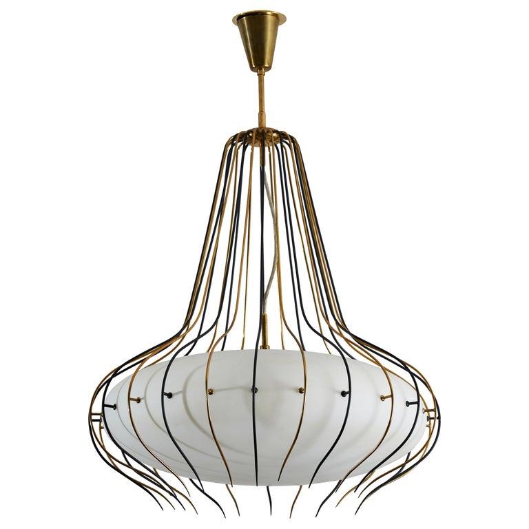Suspension Light by Angelo Lelli for Arredoluce