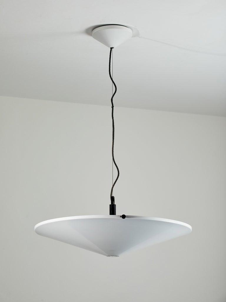 Enameled Suspension Light by Arteluce For Sale