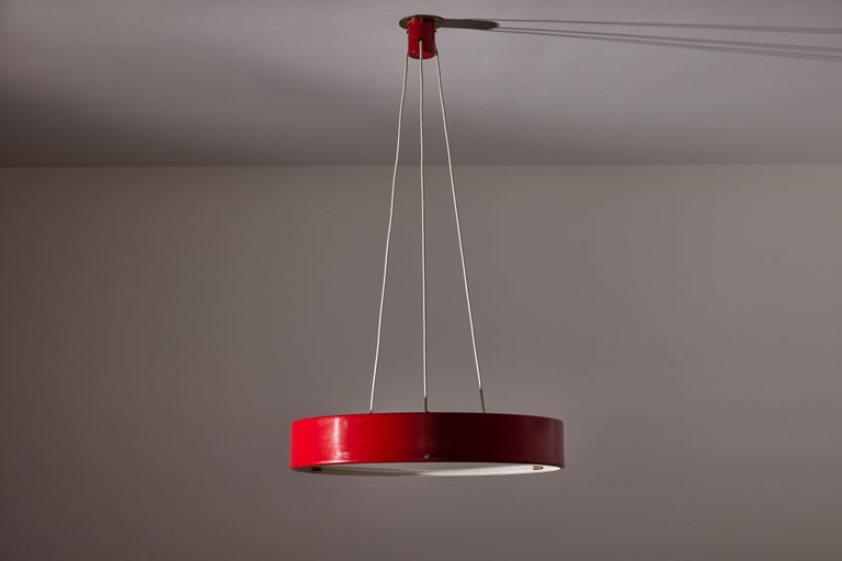 Painted Suspension Light by Bruno Gatta for Stilnovo