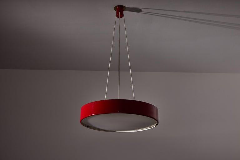Mid-20th Century Suspension Light by Bruno Gatta for Stilnovo