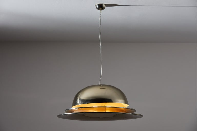 Mid-Century Modern Suspension Light by Gianemilio Piero and Anna Monti for Fontana Arte