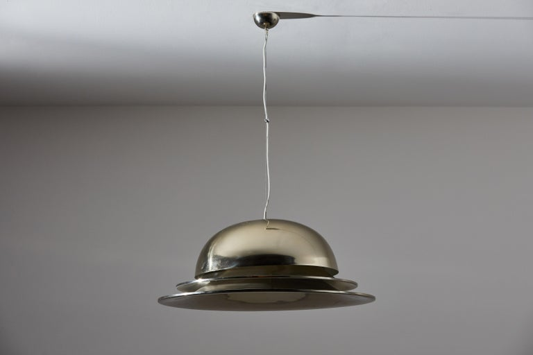 Brass Suspension Light by Gianemilio Piero and Anna Monti for Fontana Arte