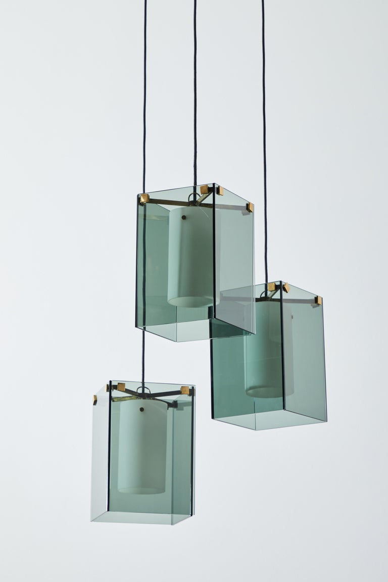 Suspension Light by Max Ingrand for Fontana Arte For Sale 3
