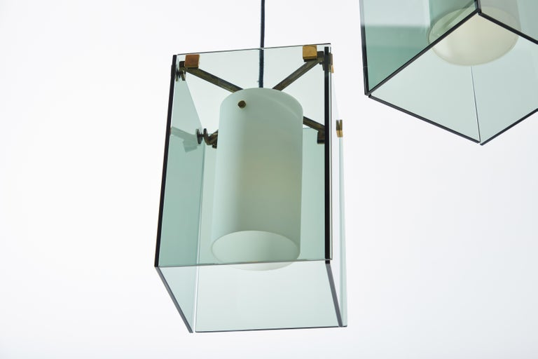 Suspension Light by Max Ingrand for Fontana Arte For Sale 7