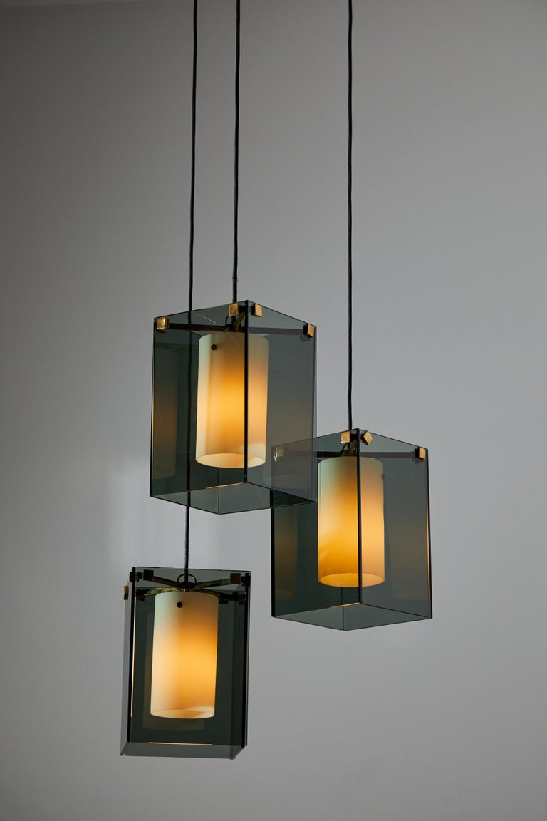 Mid-Century Modern Suspension Light by Max Ingrand for Fontana Arte For Sale