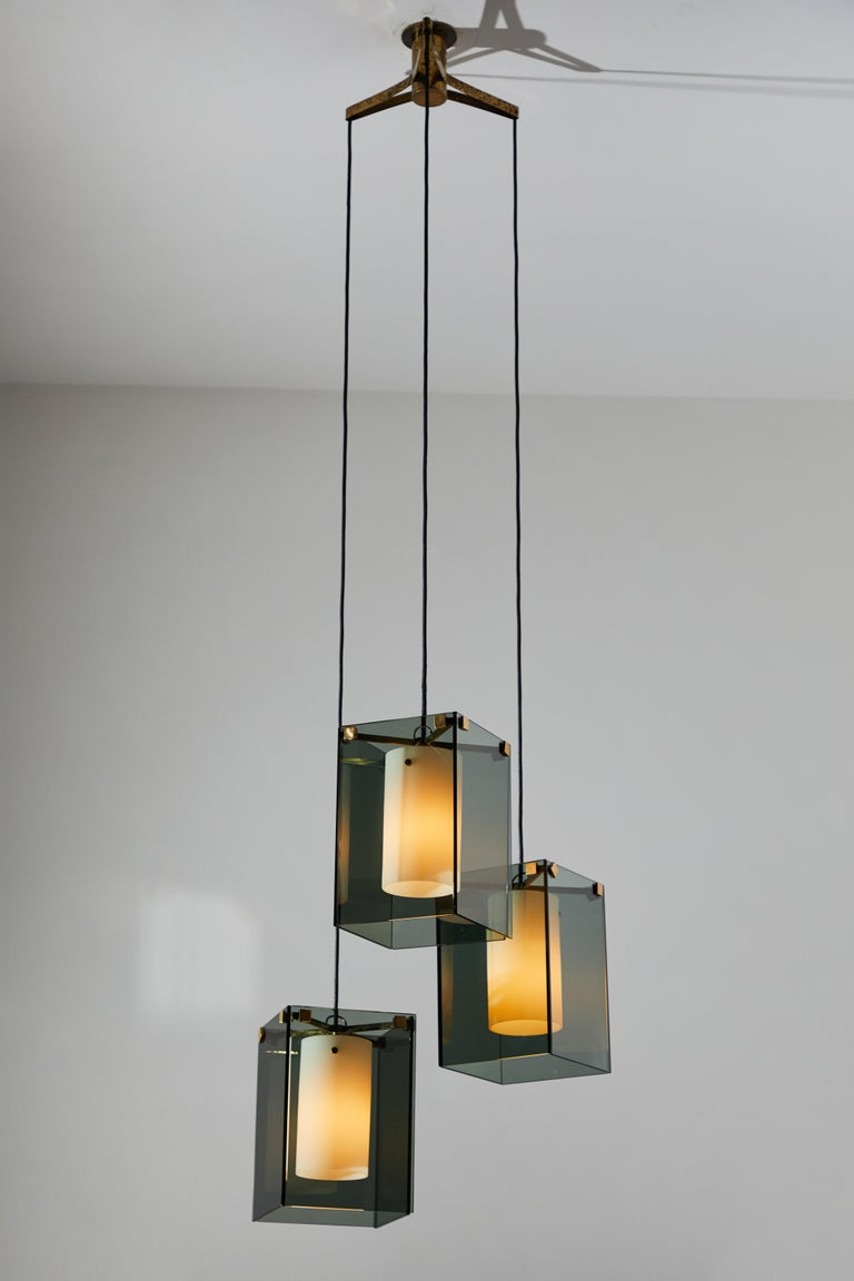 Italian Suspension Light by Max Ingrand for Fontana Arte For Sale
