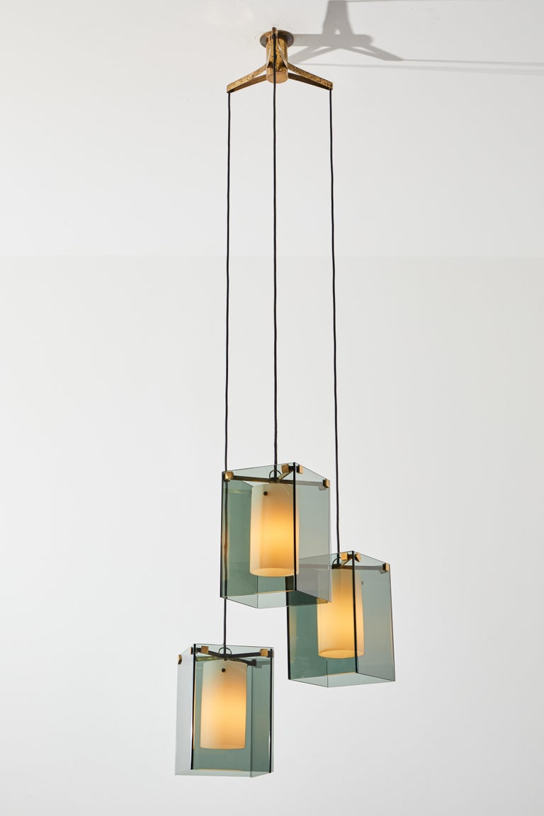 Mid-20th Century Suspension Light by Max Ingrand for Fontana Arte For Sale