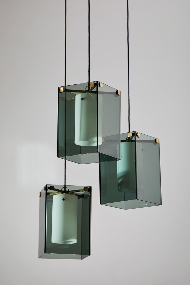 Suspension Light by Max Ingrand for Fontana Arte For Sale 1