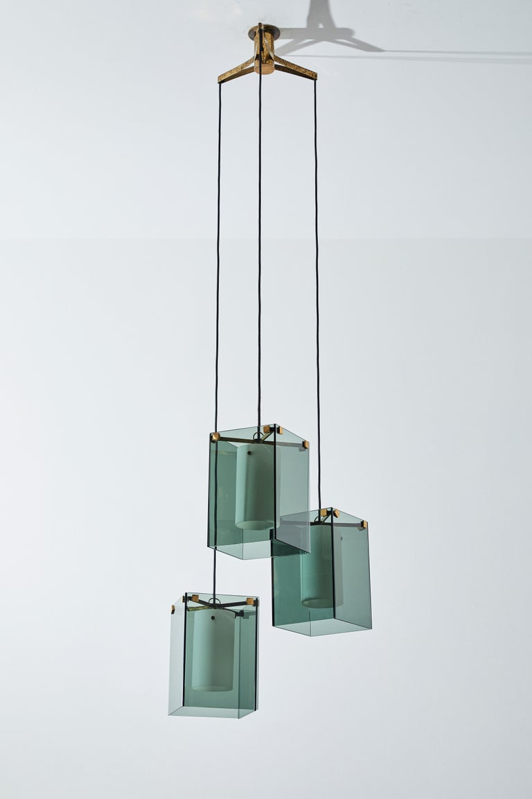 Suspension Light by Max Ingrand for Fontana Arte For Sale 2