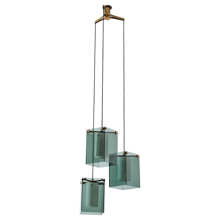 Suspension Light by Max Ingrand for Fontana Arte For Sale
