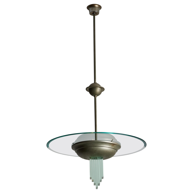 Suspension Light by Pietro Chiesa for Fontana Arte