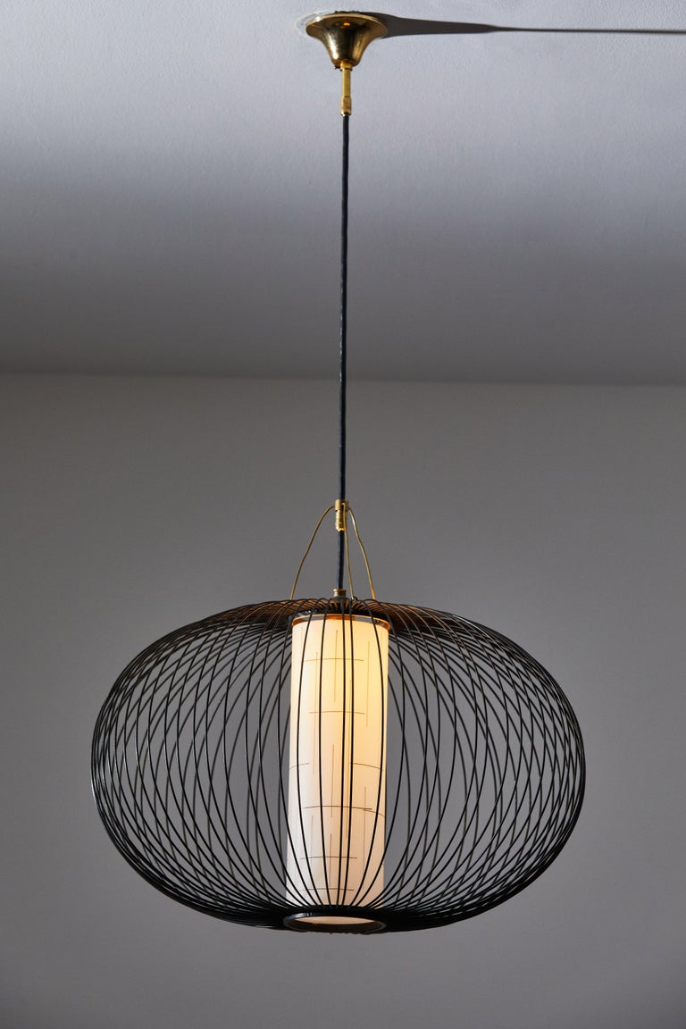 Mid-Century Modern Suspension Light by Stilnovo For Sale