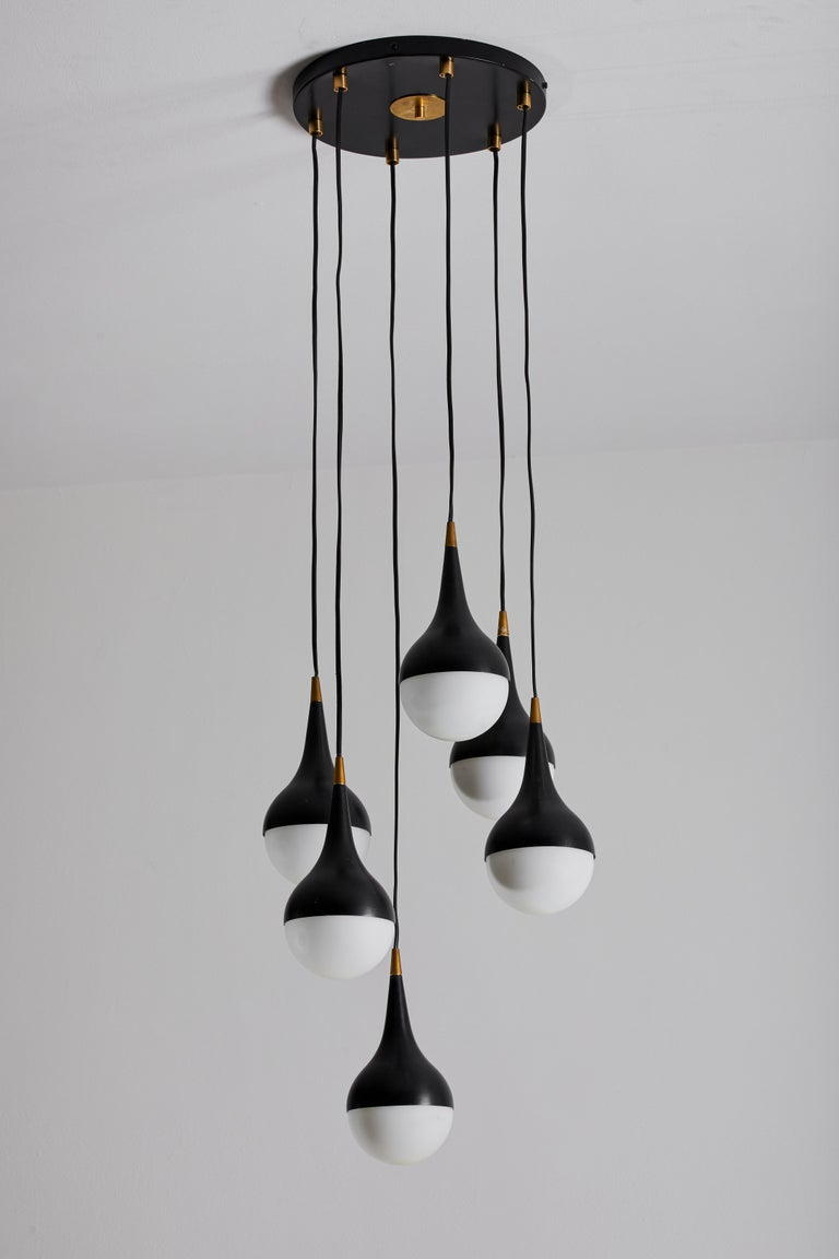 Enameled Suspension Light by Stilnovo For Sale