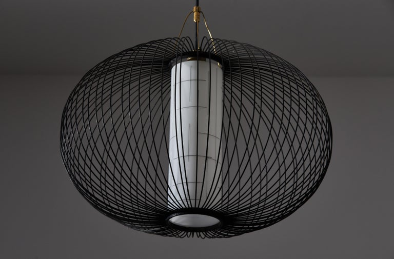 Metal Suspension Light by Stilnovo For Sale