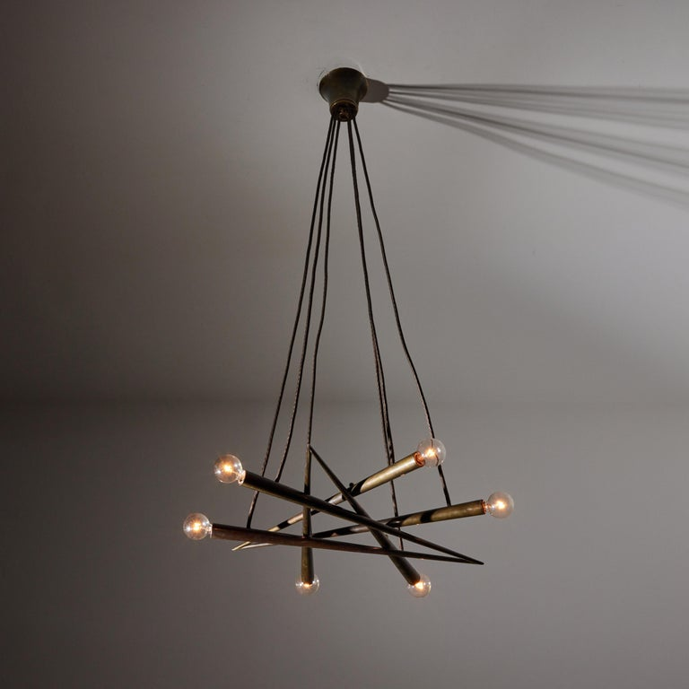 Brass Suspension Light by Stilnovo For Sale