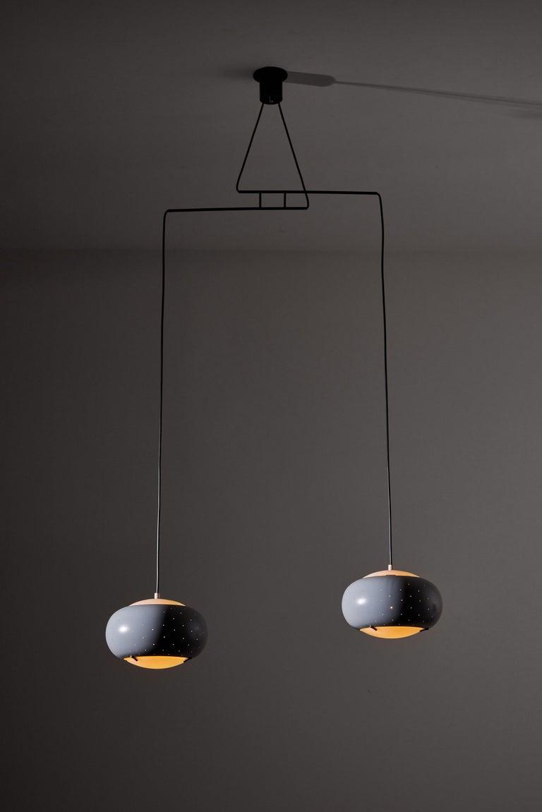 Italian Suspension Light by Stilux For Sale