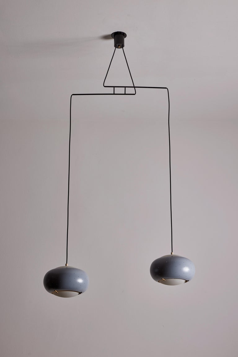 Suspension Light by Stilux In Good Condition For Sale In Los Angeles, CA