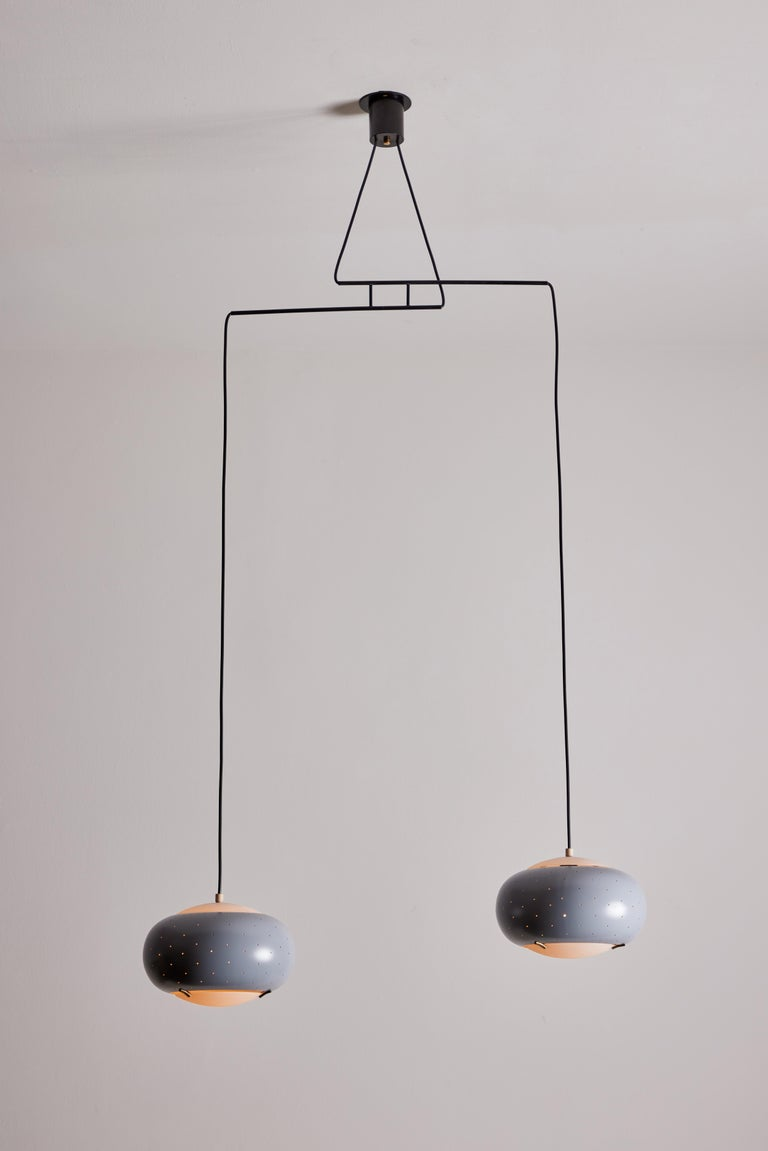 Mid-20th Century Suspension Light by Stilux For Sale