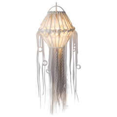 Suspension, Precious Ceiling Light, rattan and synthetic fibers, Art Modern