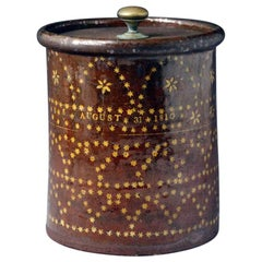 Sussex Pottery Slipware Jar Dated August 31st 1810