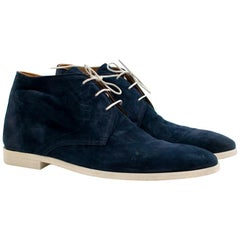 Sutor Mantellassi Navy Suede Ankle Boots  7.5