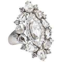 Sutra Rose Cut Diamond and 18 Karat Gold Ring
