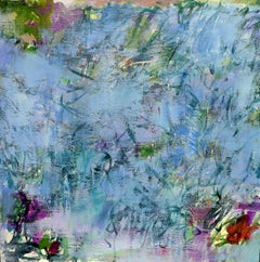 A Moment in The Water Garden, Painting, Acrylic on Canvas