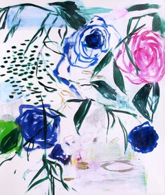 Fuschia Rose, Painting, Acrylic on Paper