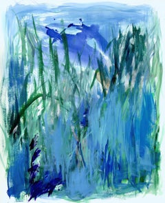 Rainwater in the Garden, Painting, Acrylic on Paper