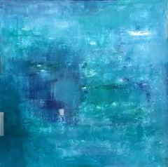 Water Garden / Light Rain, Painting, Acrylic on Canvas