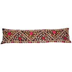 Suzan Lumbar Pillow Case Fashioned from a Mid-20th Century Uzbek Suzani