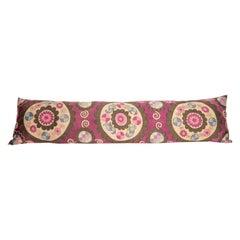 Suzani Body Pillow Fashioned from a Tashkent Suzani, Uzbekistan