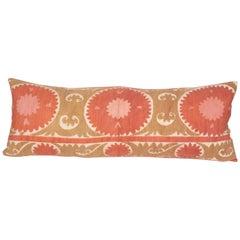 Suzani Body Pillow Made from a Vintage Uzbek Suzani, 1960s