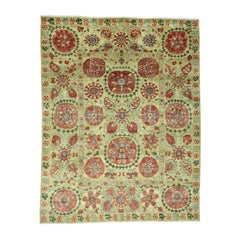 Suzani Design Pure Wool Hand Knotted Vegetable Dyes Rug