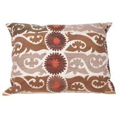 Suzani Floor Cushion Made from an Early 20th Century Uzbek Suzani