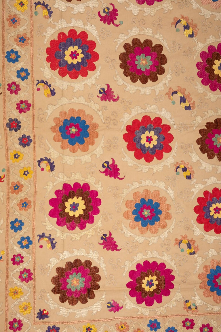 Embroidered Suzani from Bukhara, Uzbekistan, Central Asia, 1970s For Sale