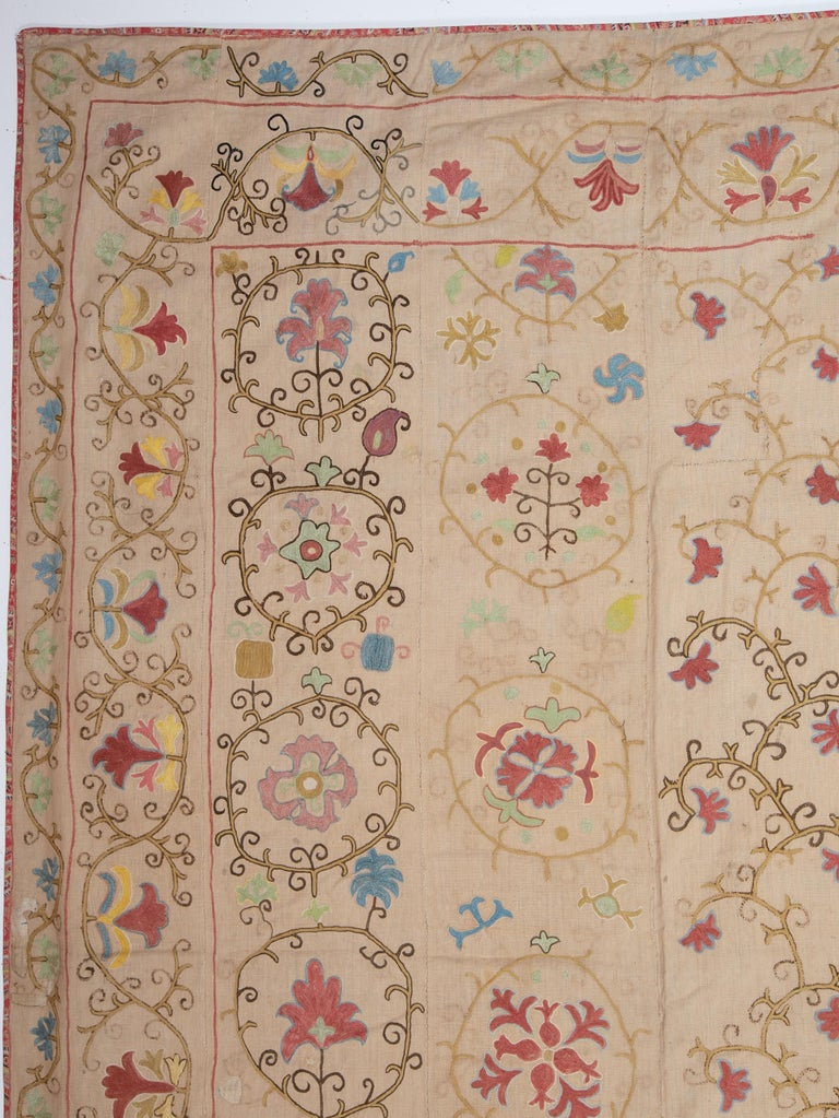 Embroidered Suzani from Bukhara Uzbekistan, Late 19th Century For Sale