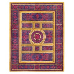Suzani Hand Knotted Area Rug in Fuschia New Zealand Wool
