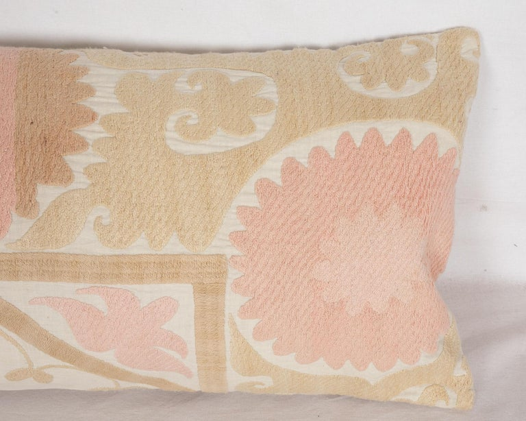 Suzani Lumbar Pillow Case Fashioned from a Mid-20th Century Uzbek Suzani In Good Condition For Sale In Istanbul, TR
